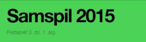 Fréttabréf Samspil 2015 maímánuður